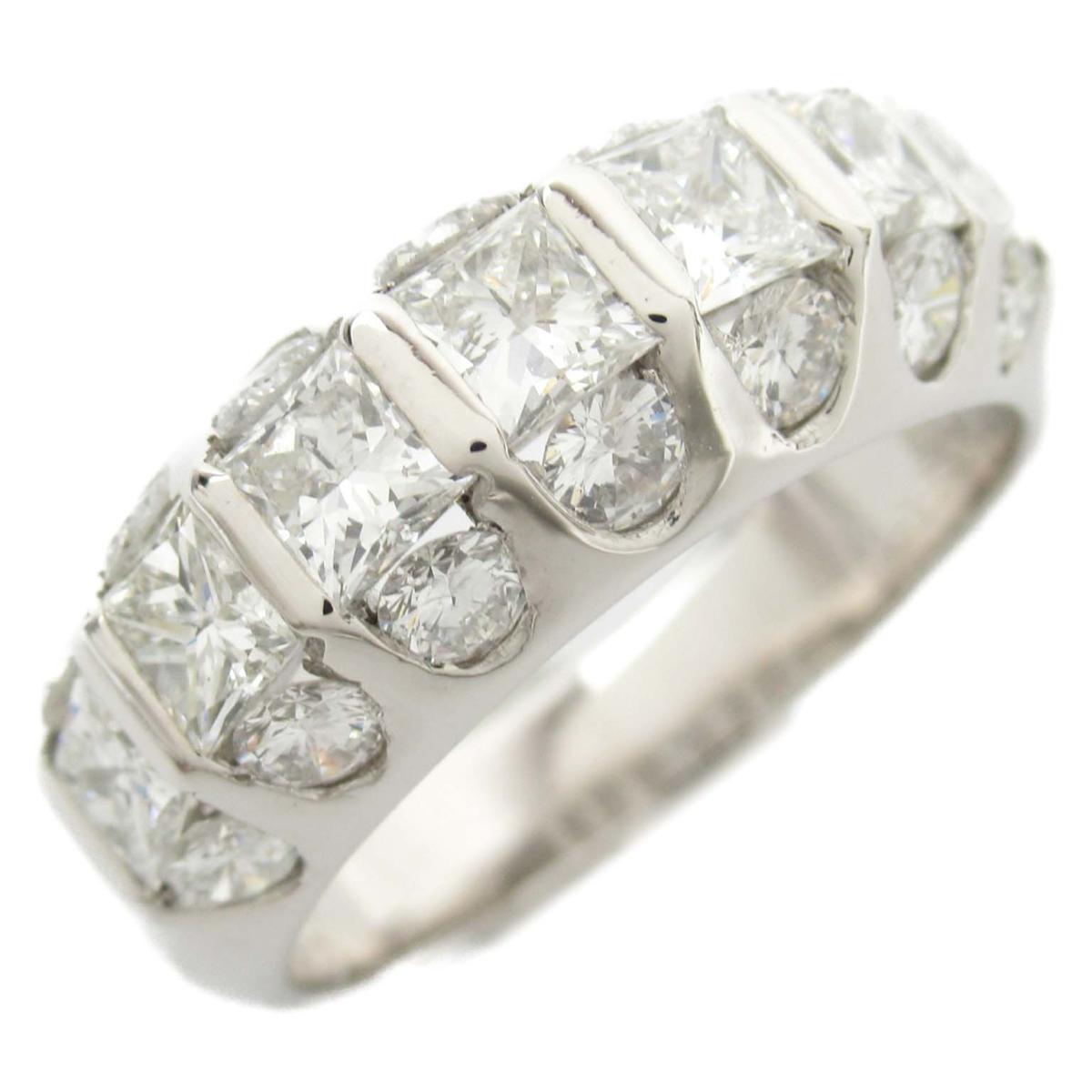 ジュエリー ダイヤモンド リング 指輪 ノーブランドジュエリー レディース PT900 プラチナ x ダイヤモンド1.31 / 0.82ct【中古】 | JEWELRY BRANDOFF ブランドオフ ブランド アクセサリー