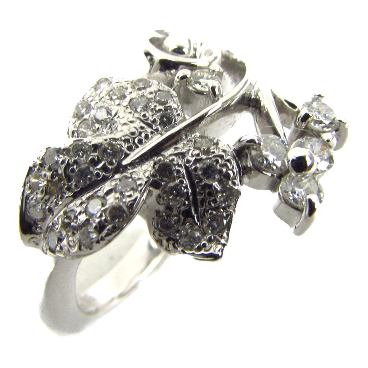 ジュエリー ダイヤモンド リング 指輪 ノーブランドジュエリー レディース K18WG (750) ホワイトゴールド x ダイヤモンド0.30ct 【中古】 | JEWELRY BRANDOFF ブランドオフ アクセサリー