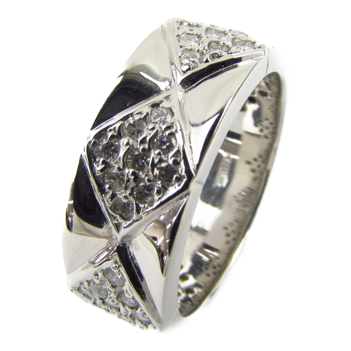 ジュエリー ダイヤモンド リング 指輪 ノーブランドジュエリー レディース K18WG (750) ホワイトゴールド x ダイヤモンド0.41ct 【中古】 | JEWELRY BRANDOFF ブランドオフ アクセサリー
