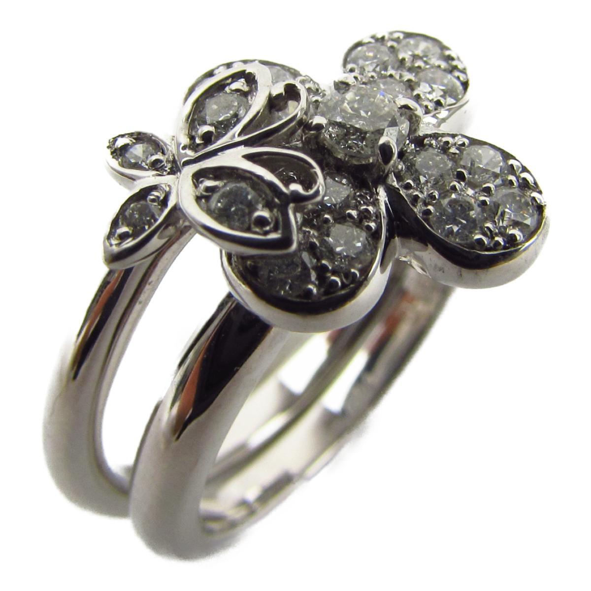 ジュエリー ダイヤモンド リング 指輪 ノーブランドジュエリー レディース K18WG (750) ホワイトゴールド x ダイヤモンド0.32ct 【中古】 | JEWELRY BRANDOFF ブランドオフ アクセサリー