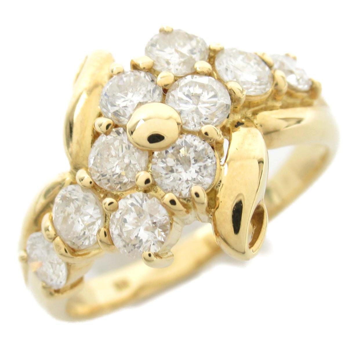 ジュエリー ダイヤモンド リング 指輪 ノーブランドジュエリー レディース 18Kイエローゴールド x ダイヤモンド1.00ct 【中古】 | JEWELRY BRANDOFF ブランドオフ アクセサリー