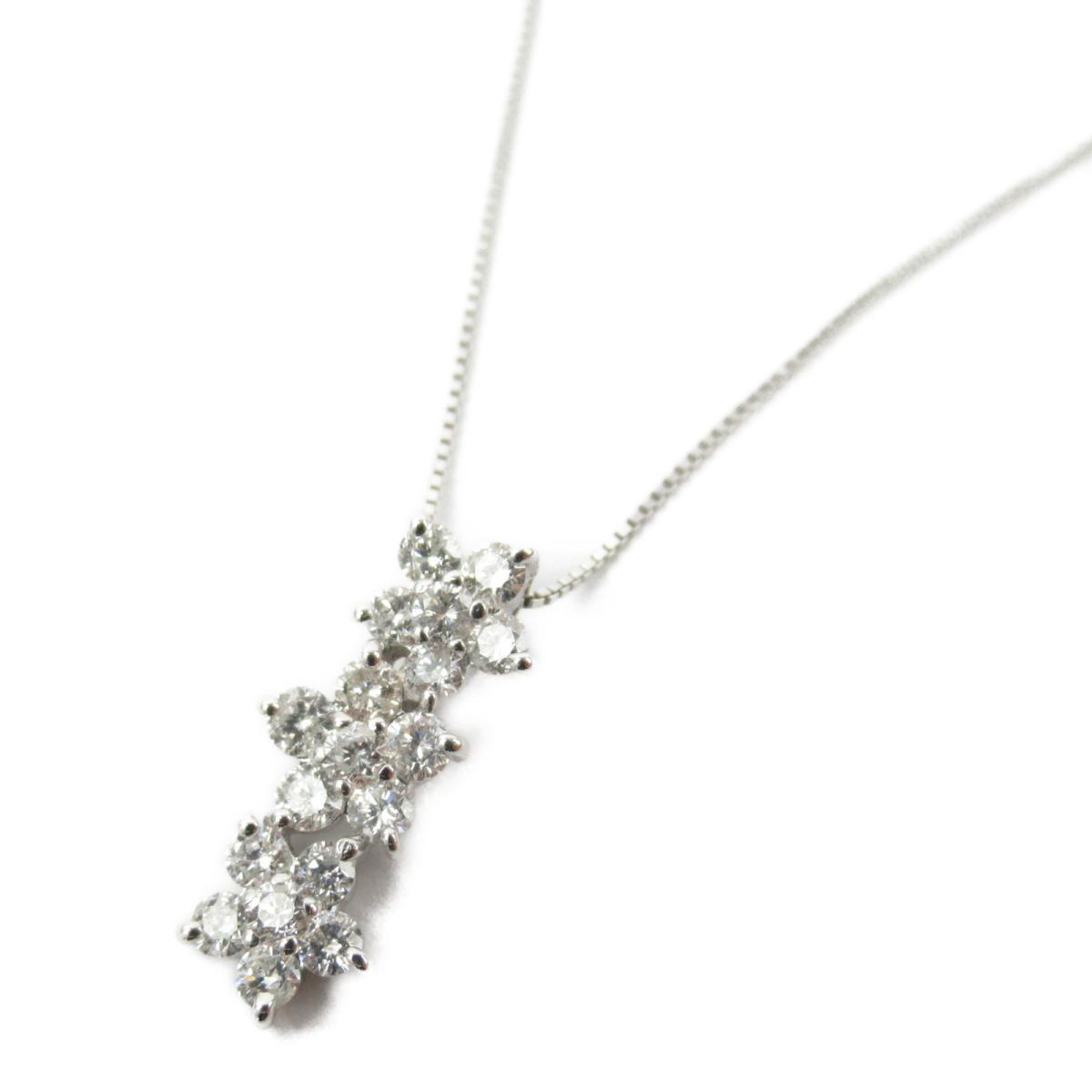 ジュエリー ダイヤモンド ネックレス ノーブランドジュエリー レディース K18WG (750) ホワイトゴールド x ダイヤモンド0.70ct 【中古】 | JEWELRY BRANDOFF ブランドオフ アクセサリー ペンダント