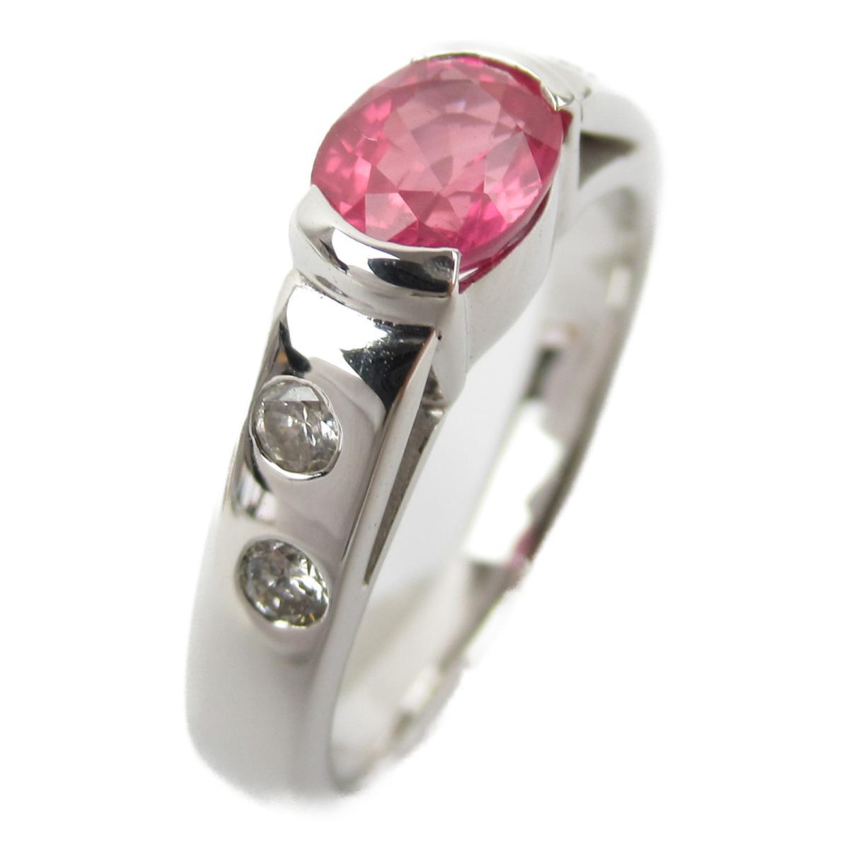 ジュエリー サファイア ダイヤモンド リング 指輪 ノーブランドジュエリー レディース K18WG (750) ホワイトゴールド x 0.92/ダイヤモンド0.14ct 【中古】 | JEWELRY BRANDOFF ブランドオフ アクセサリー