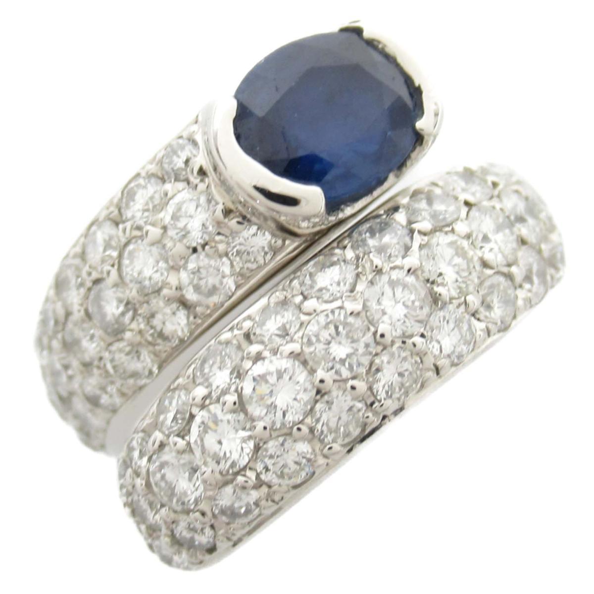 ジュエリー サファイア ダイヤモンド リング 指輪 ノーブランドジュエリー レディース PT900 プラチナ x サファイア1.029ct ダイヤモンド1.64ct 【中古】 | JEWELRY BRANDOFF ブランドオフ アクセサリー