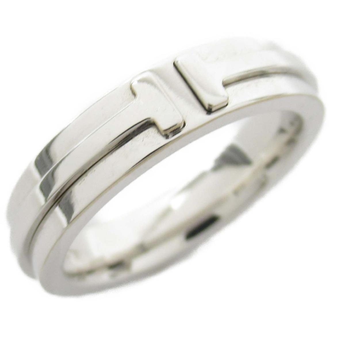 ティファニー T TWO ナローリング リング 指輪 ブランドジュエリー レディース K18WG (750) ホワイトゴールド 【中古】 | TIFFANY&CO BRANDOFF ブランドオフ ブランド ジュエリー アクセサリー