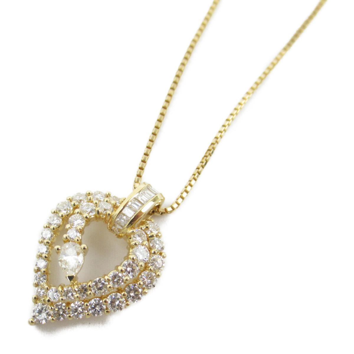 ジュエリー ダイヤモンド ネックレス ノーブランドジュエリー レディース K18YG (750) イエローゴールド x ダイヤモンド1.99ct 【中古】 | JEWELRY BRANDOFF ブランドオフ アクセサリー ペンダント