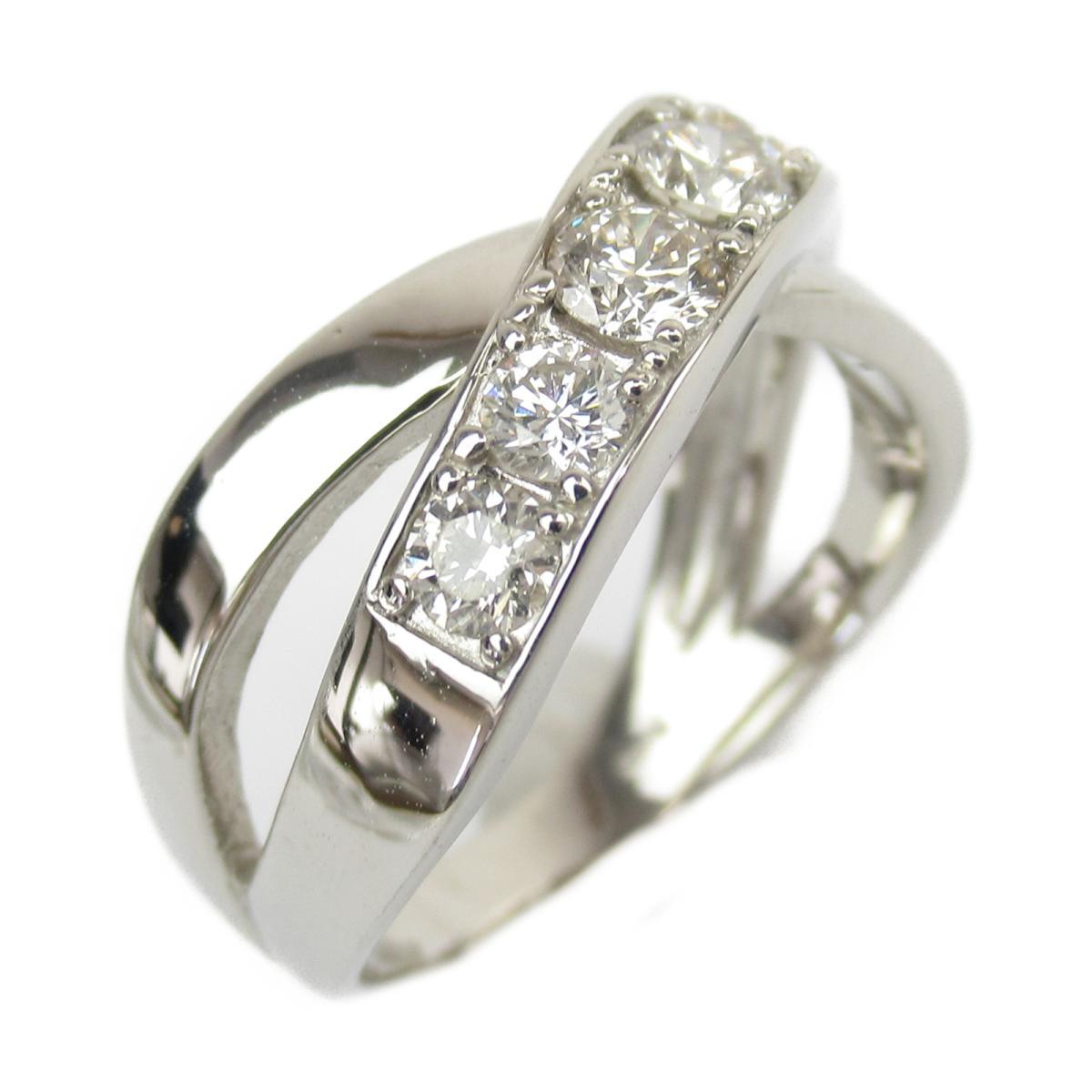 ジュエリー ダイヤモンド リング 指輪 ノーブランドジュエリー レディース PT950 プラチナ x ダイヤモンド0.80ct 【中古】 | JEWELRY BRANDOFF ブランドオフ アクセサリー