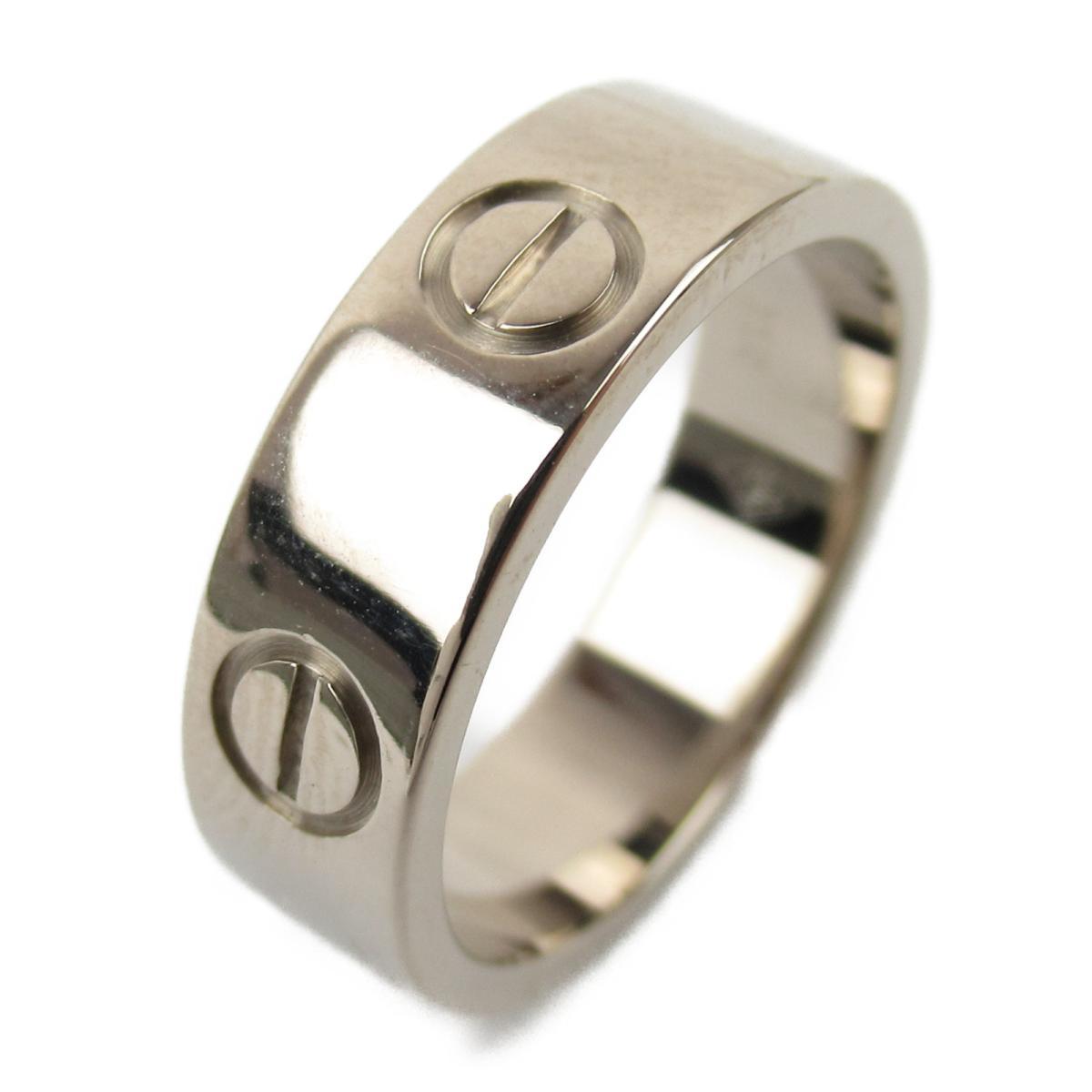 カルティエ ラブリング 指輪 ブランドジュエリー レディース K18WG (750) ホワイトゴールド 【中古】   Cartier BRANDOFF ブランドオフ ブランド ジュエリー アクセサリー リング