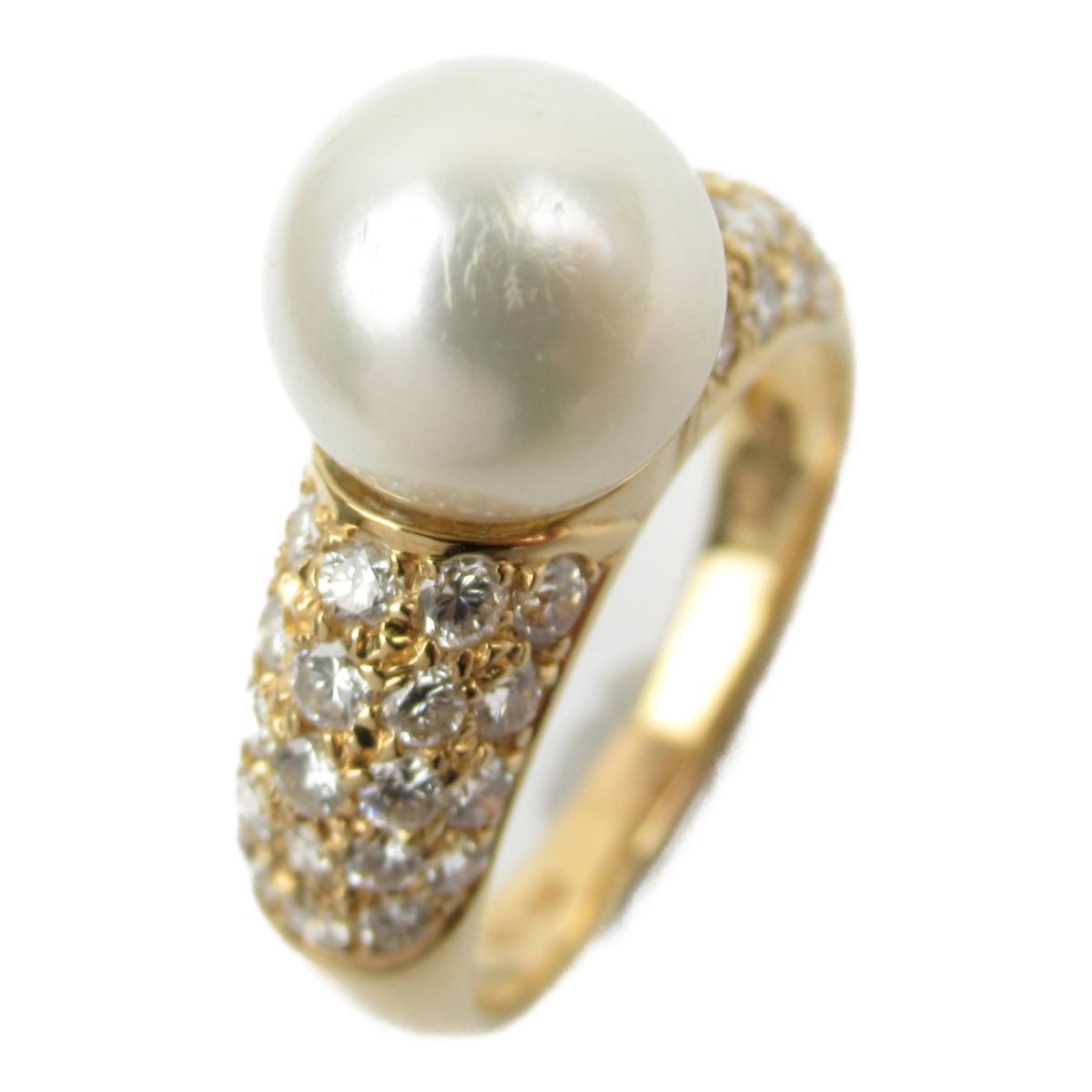 ジュエリー パール ダイヤモンド リング 指輪 ノーブランドジュエリー レディース K18YG (750) イエローゴールド x パール8.4mm ダイヤモンド0.86ct 【中古】 | JEWELRY BRANDOFF ブランドオフ アクセサリー