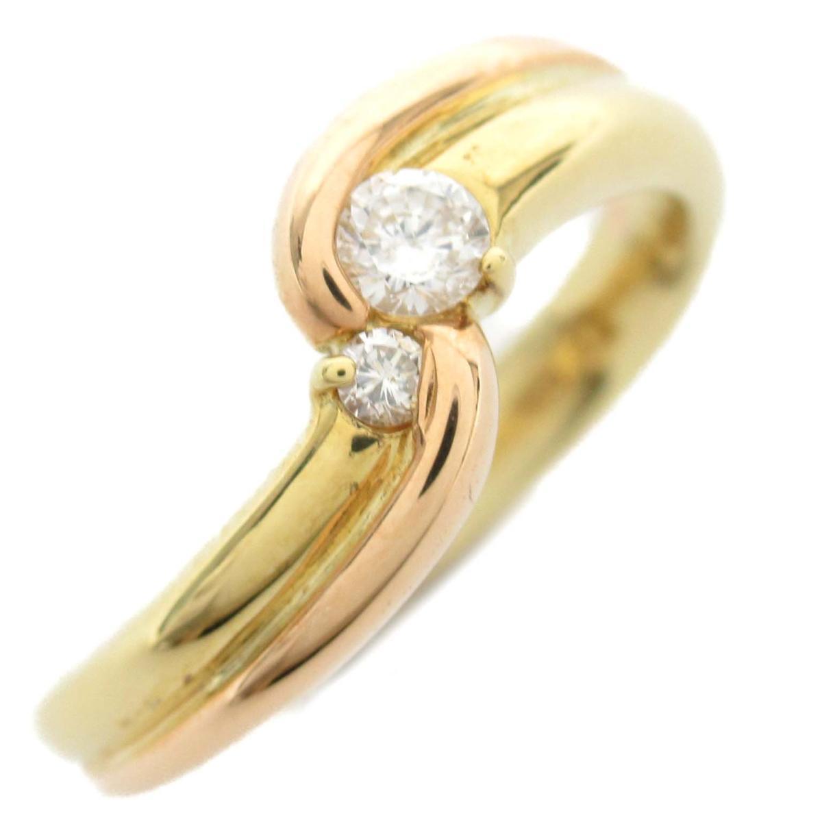 ジュエリー ダイヤモンド リング 指輪 ノーブランドジュエリー レディース 18Kイエローゴールド x 18Kピンクゴールド ダイヤモンド0.11ct 【中古】 | JEWELRY BRANDOFF ブランドオフ アクセサリー