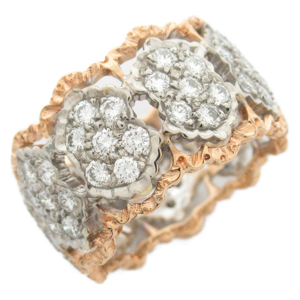 ジュエリー ダイヤモンド リング 指輪 ノーブランドジュエリー レディース 18Kイエローゴールド x 18Kピンクゴールド 【中古】 | JEWELRY BRANDOFF ブランドオフ アクセサリー