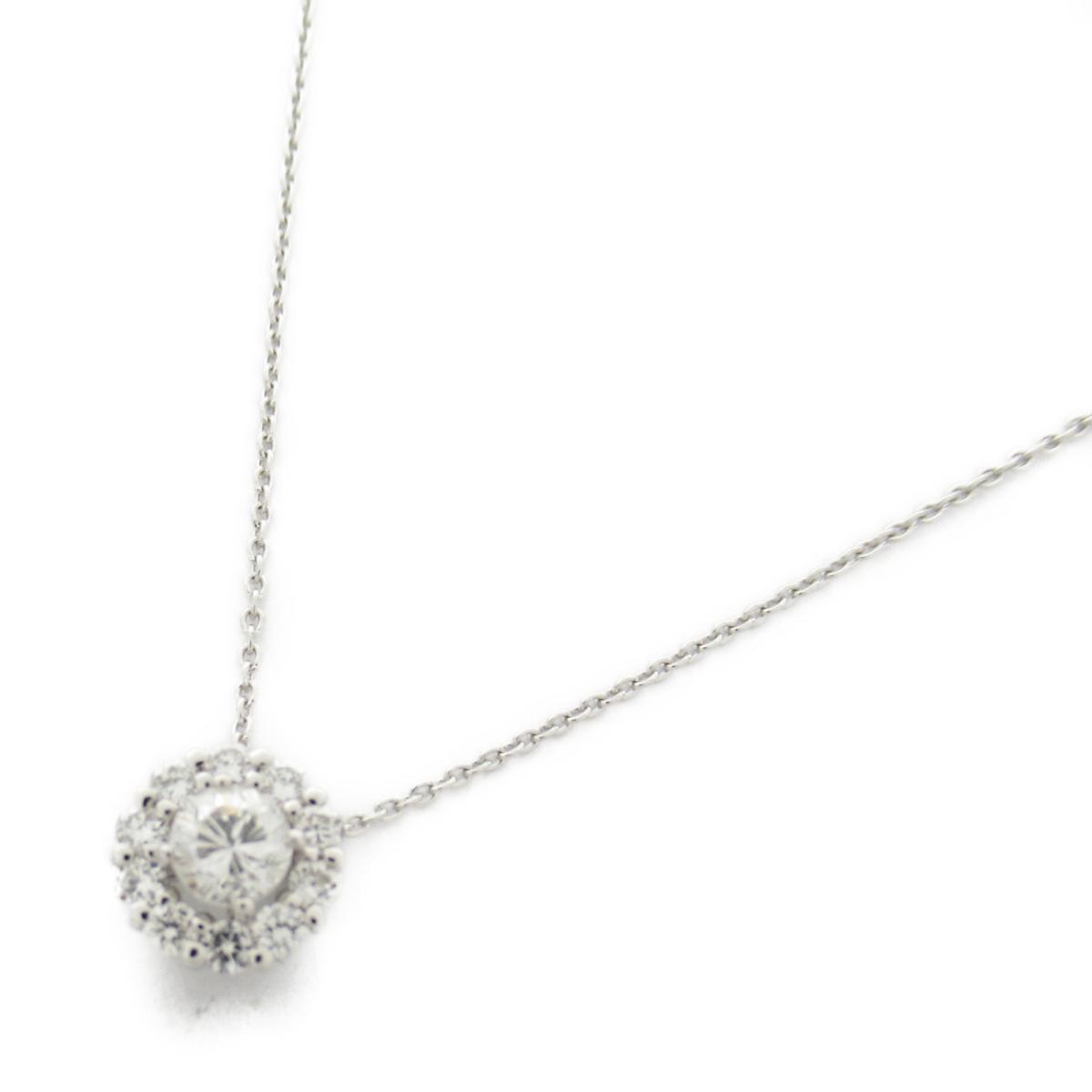 ジュエリー ダイヤモンド ネックレス ノーブランドジュエリー レディース K18WG (750) ホワイトゴールド x ダイヤモンド0.21/0.22ct 【中古】 | JEWELRY BRANDOFF ブランドオフ アクセサリー ペンダント