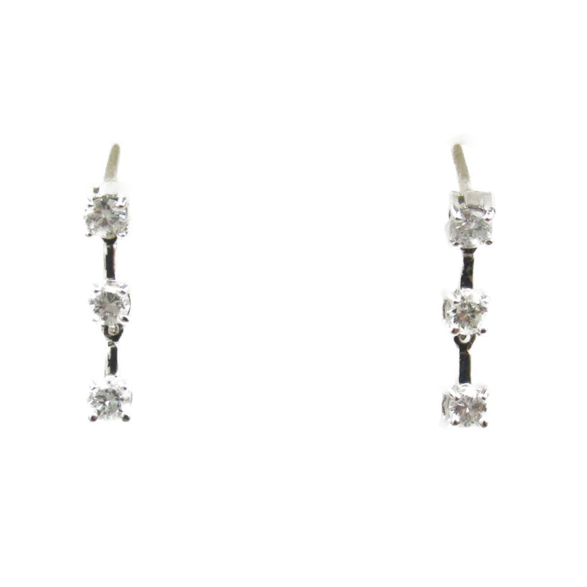 ジュエリー ダイヤモンド ピアス ノーブランドジュエリー レディース K18WG (750) ホワイトゴールド x ダイヤモンド0.10*2 【中古】 | JEWELRY BRANDOFF ブランドオフ アクセサリー