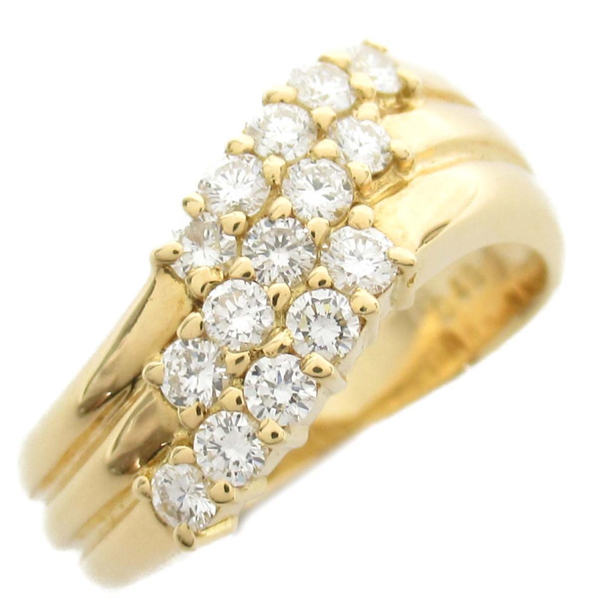 ジュエリー ダイヤモンド リング 指輪 ノーブランドジュエリー レディース 18Kイエローゴールド x ダイヤモンド0.48ct 【中古】 | JEWELRY BRANDOFF ブランドオフ アクセサリー