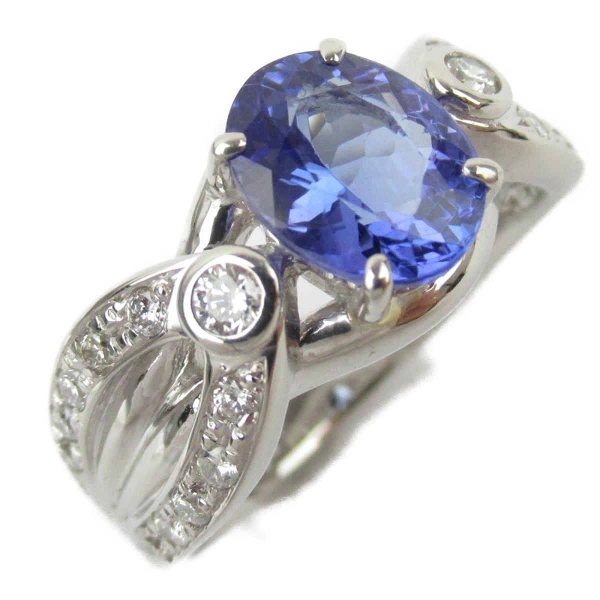 ジュエリー タンザナイト ダイヤモンド リング 指輪 ノーブランドジュエリー レディース PT900 プラチナ x タンザナイト1.91/ダイヤモンド0.36ct 【中古】 | JEWELRY BRANDOFF ブランドオフ アクセサリー