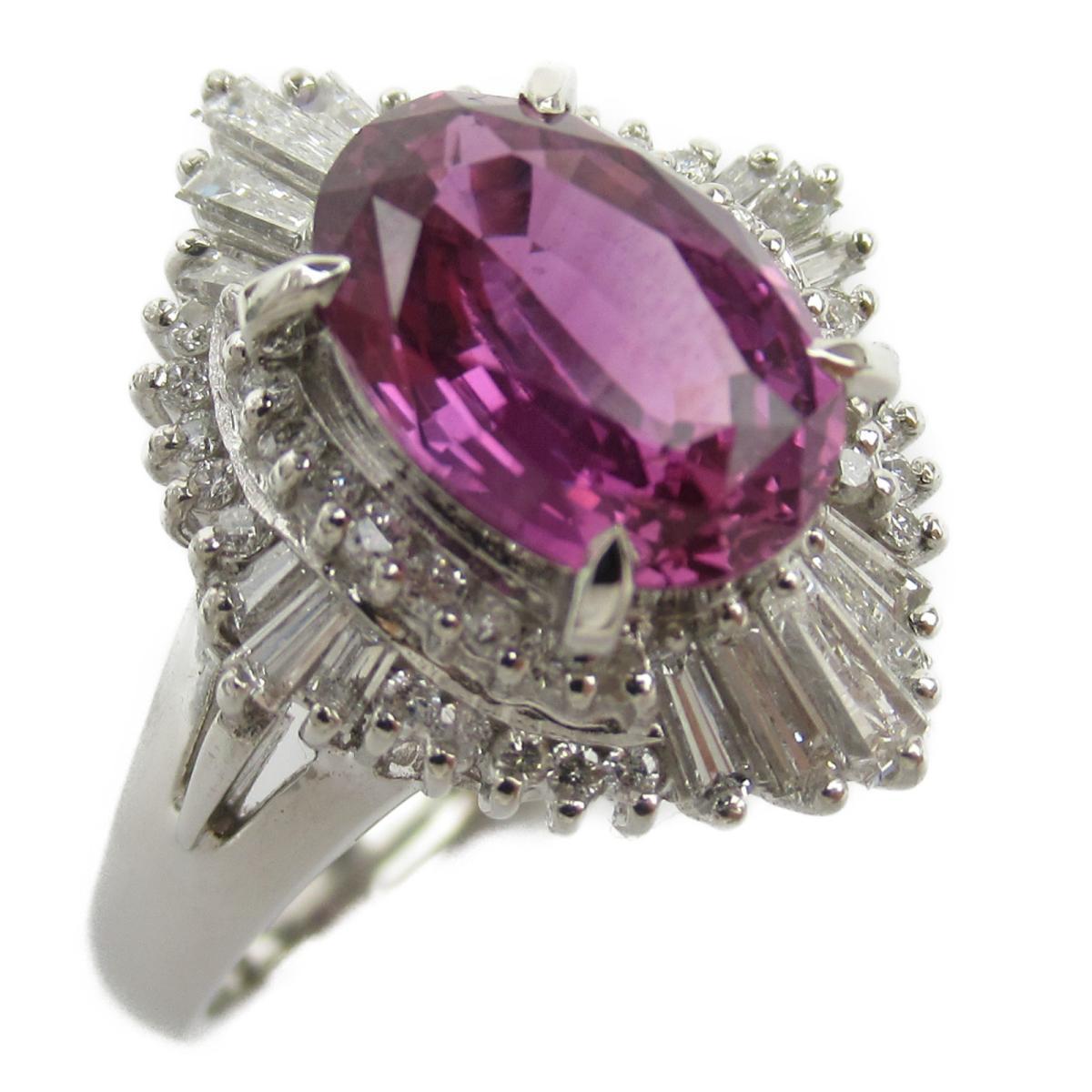 ジュエリー パープルサファイア ダイヤモンド リング 指輪 ノーブランドジュエリー レディース PT900 プラチナ x サファイア2.65/ダイヤモンド0.61ct 【中古】 | JEWELRY BRANDOFF ブランドオフ アクセサリー