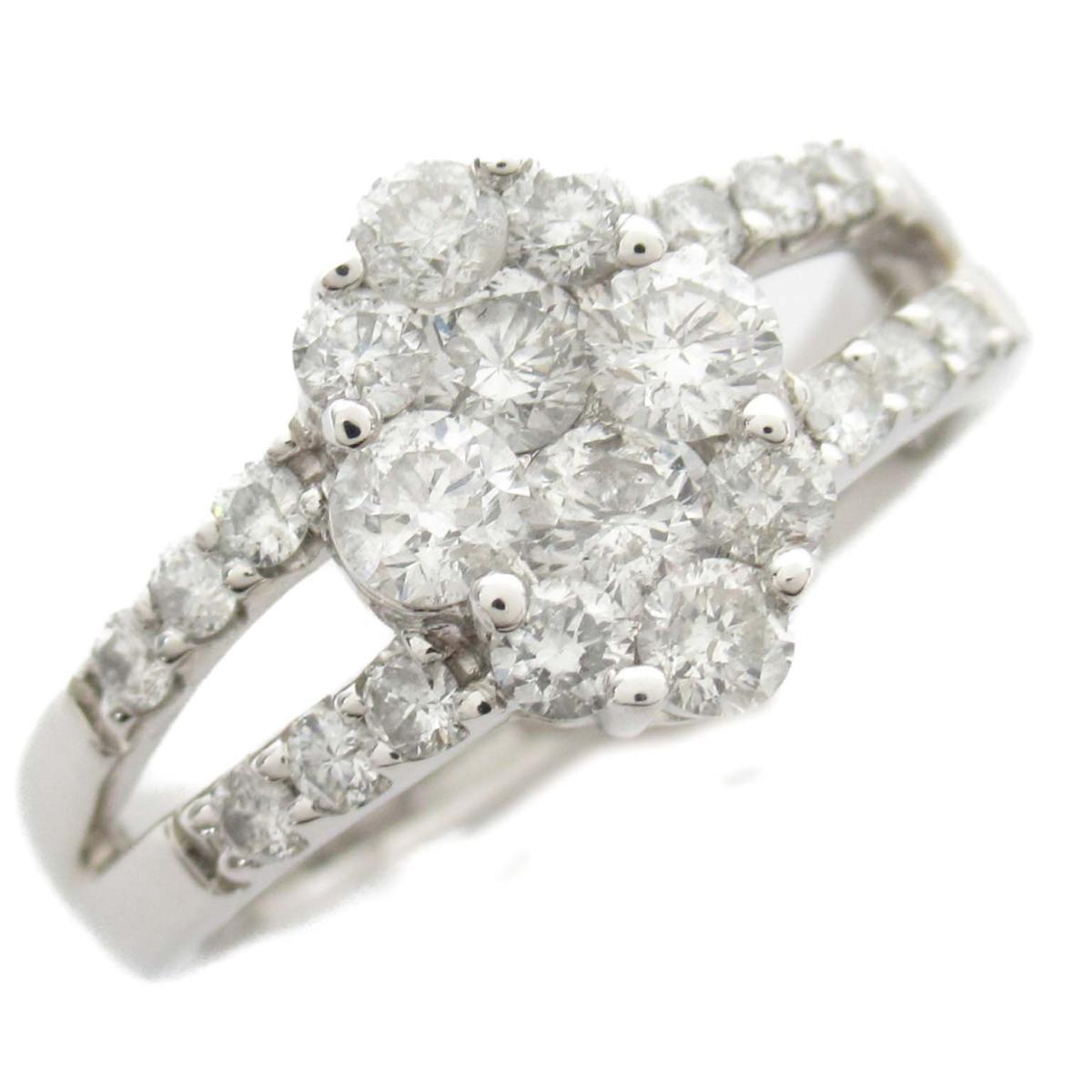 ジュエリー ダイヤモンド リング 指輪 ノーブランドジュエリー レディース 18Kホワイトゴールド x ダイヤモンド1.00ct 【中古】   JEWELRY BRANDOFF ブランドオフ アクセサリー