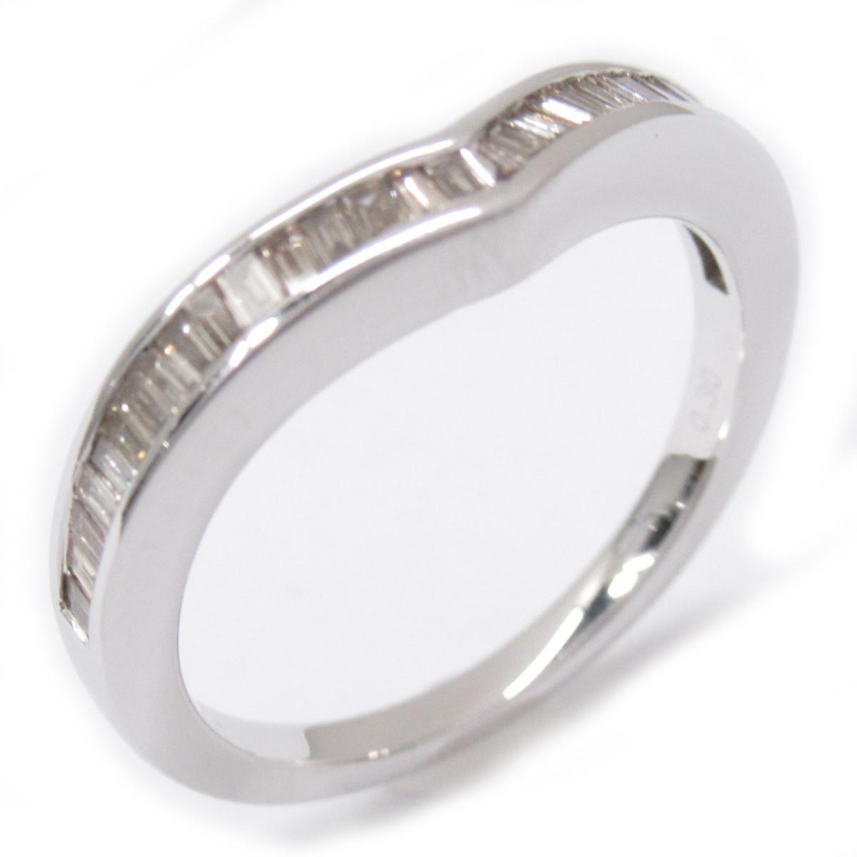 ジュエリー ダイヤモンドリング 指輪 ノーブランドジュエリー レディース K18WG (750) ホワイトゴールドxダイヤモンド0.3ct シルバー 【中古】   JEWELRY BRANDOFF ブランドオフ アクセサリー リング