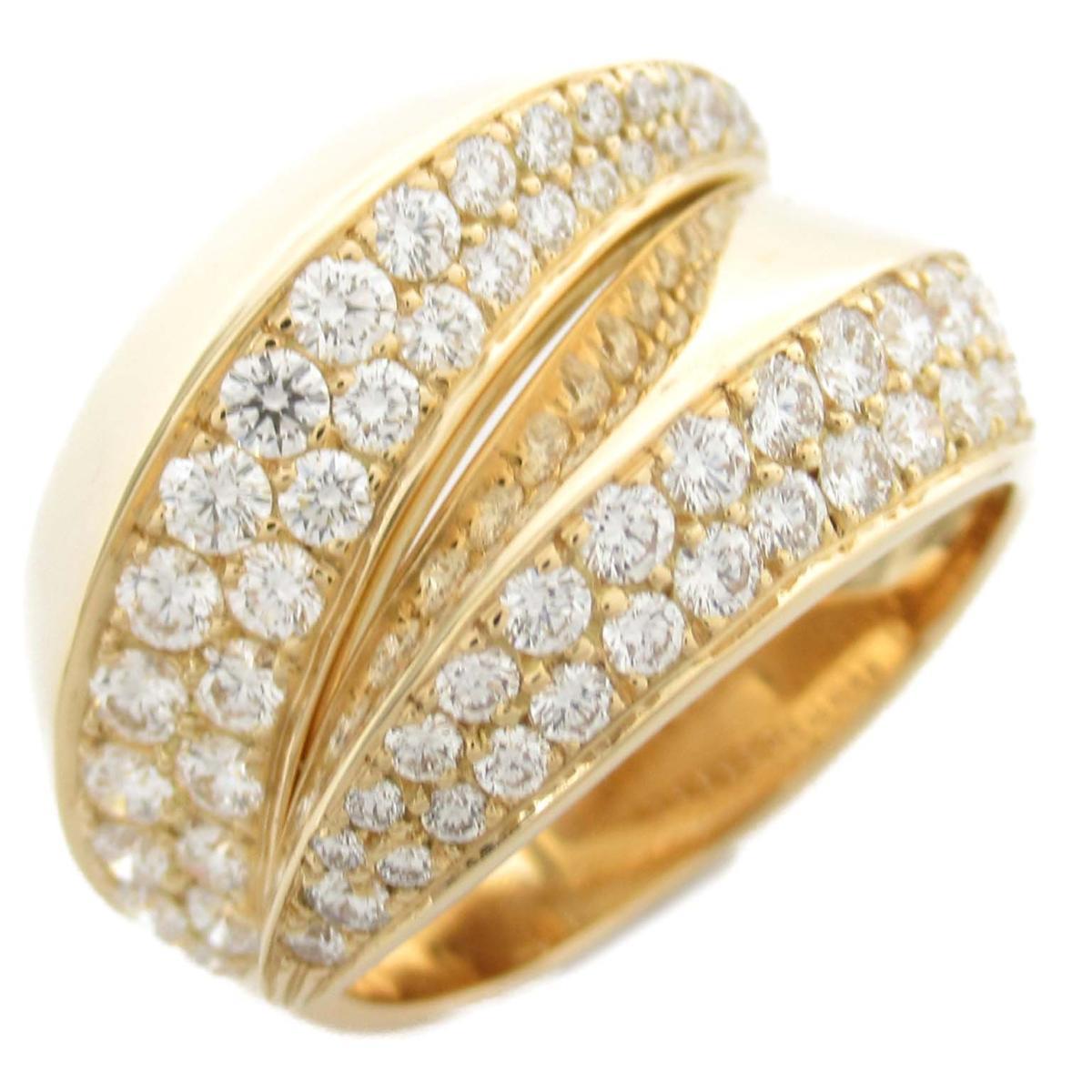 カルティエ パンテールグリフリング ダイヤモンド 指輪 ブランドジュエリー レディース K18YG (750) イエローゴールド x 【中古】   Cartier BRANDOFF ブランドオフ ブランド ジュエリー アクセサリー リング