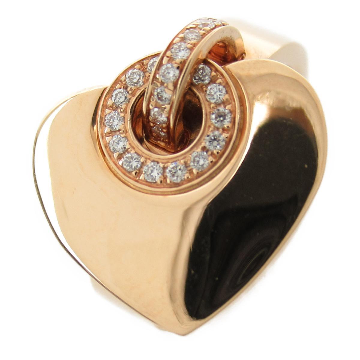 ブルガリ ブルガリブルガリクオレリング ダイヤ入 指輪 ブランドジュエリー レディース K18PG (750) ピンクゴールド x ダイヤモンド 【中古】 | ブランド