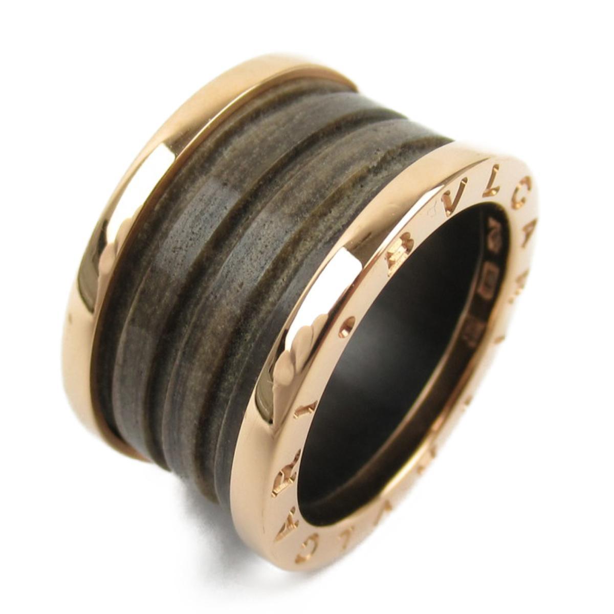 ブルガリ B-zero1 ビーゼロワンリング Mサイズ 指輪 ブランドジュエリー メンズ レディース K18PG (750) ピンクゴールド x セラミック 【中古】 | ブランド