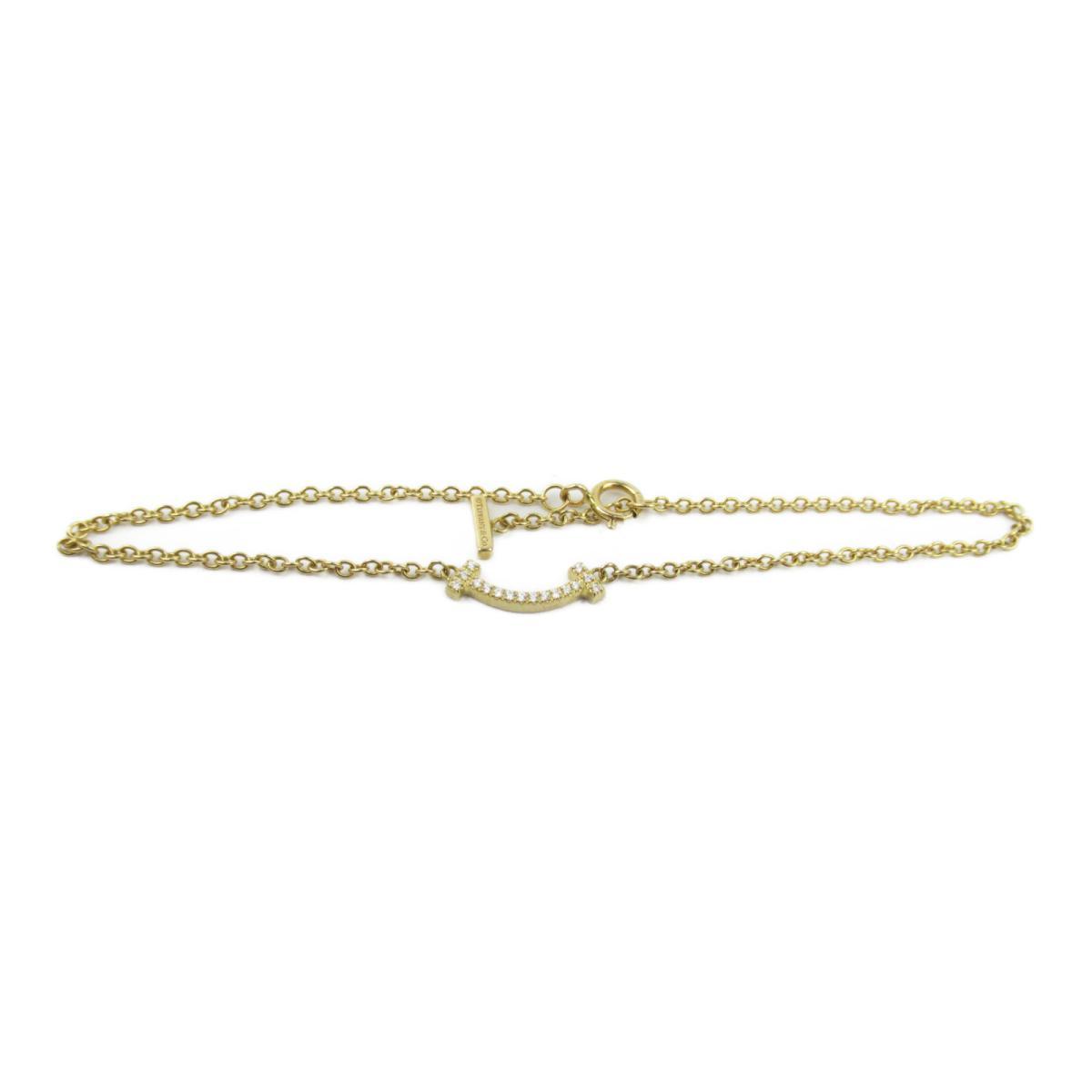 ティファニー Tスマイルマイクロダイヤブレス ブランドジュエリー レディース K18YG (750) イエローゴールド x ダイヤモンド 【中古】 | ブランド