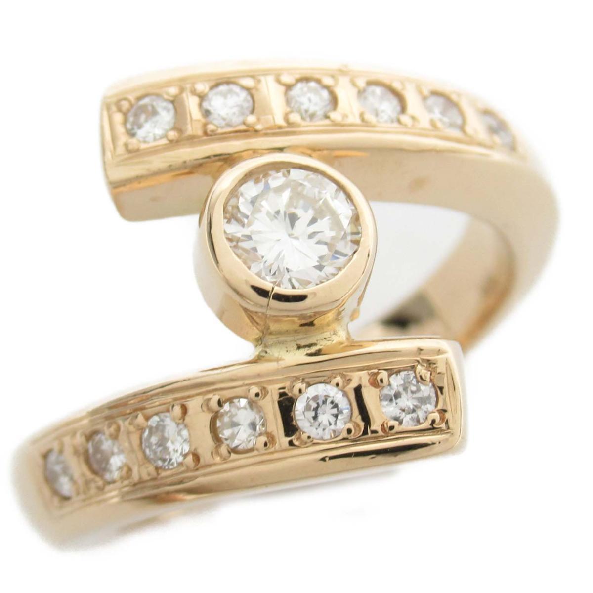 ジュエリー ダイヤモンド リング 指輪 ノーブランドジュエリー レディース 18Kイエローゴールド x ダイヤモンド0.32 0.30ct 【中古】 | JEWELRY BRANDOFF ブランドオフ アクセサリー