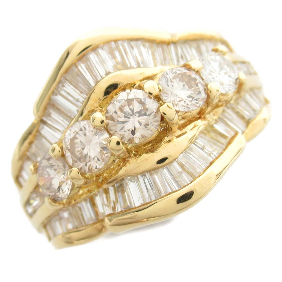 ジュエリー ダイヤモンド リング 指輪 ノーブランドジュエリー レディース 18Kイエローゴールド x ダイヤモンド2.10ct 【中古】 | JEWELRY BRANDOFF ブランドオフ アクセサリー
