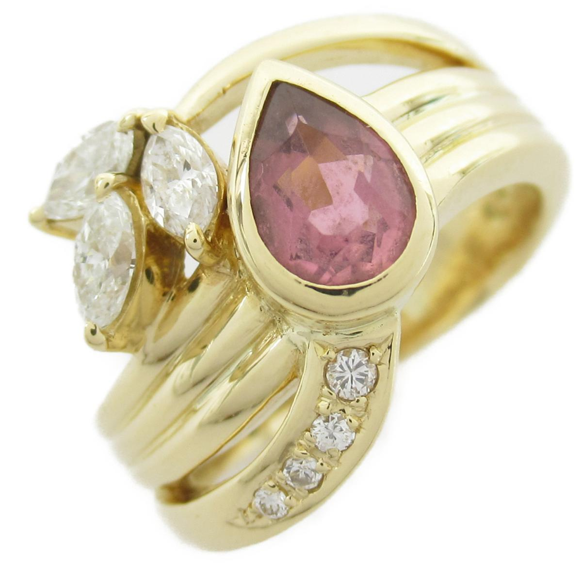 タサキ ダイヤモンド リング 指輪 ブランドジュエリー レディース 18Kイエローゴールド x ダイヤモンド0.4ct 【中古】 | TASAKI BRANDOFF ブランドオフ ブランド ジュエリー アクセサリー