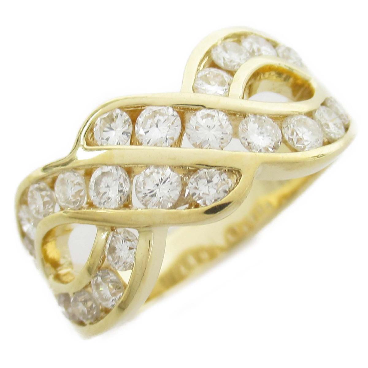 タサキ ダイヤモンド リング 指輪 ブランドジュエリー レディース 18Kイエローゴールド x ダイヤモンド0.92ct 【中古】 | TASAKI BRANDOFF ブランドオフ ブランド ジュエリー アクセサリー