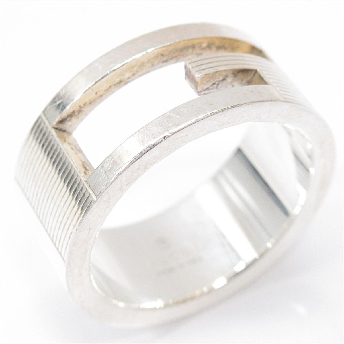 グッチ Gリング 指輪 アクセサリー メンズ レディース シルバー (925) 【中古】 | GUCCI BRANDOFF ブランドオフ ブランド ジュエリー リング