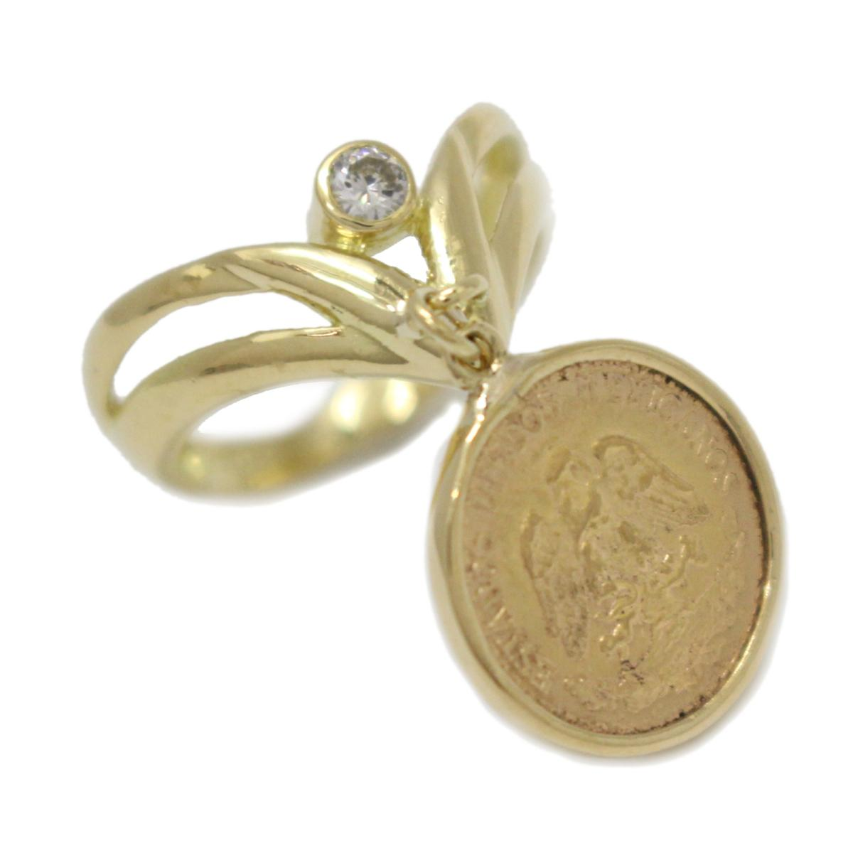 ジュエリー 2ペソ コイン リング 指輪 ノーブランドジュエリー レディース K18YG (750) イエローゴールドK21.6ダイヤモンド (石目無し) 【中古】 | JEWELRY BRANDOFF ブランドオフ アクセサリー