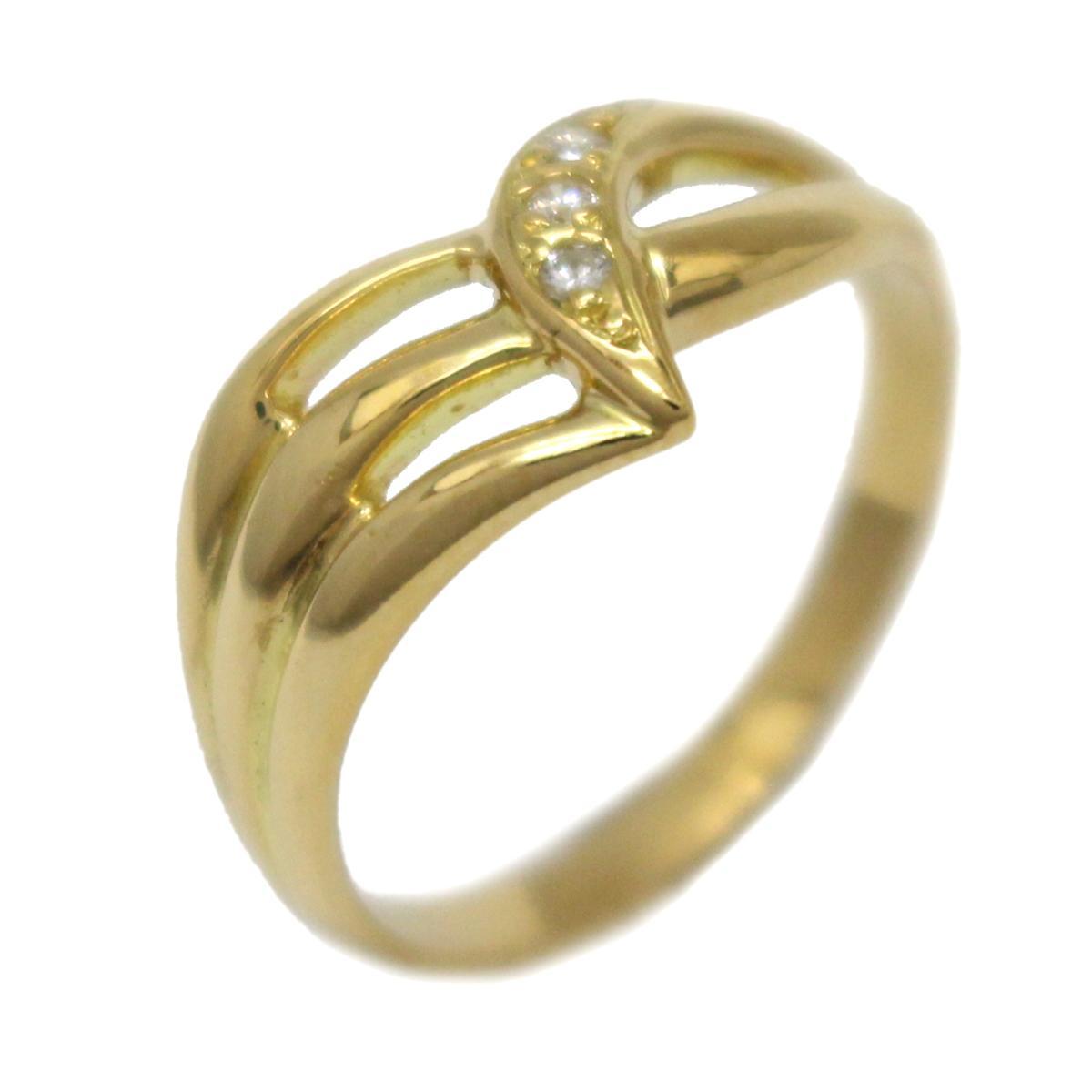 ジュエリー ダイヤモンド リング 指輪 ノーブランドジュエリー レディース K18YG (750) イエローゴールドダイヤモンド (0.03ct) 【中古】 | JEWELRY BRANDOFF ブランドオフ アクセサリー