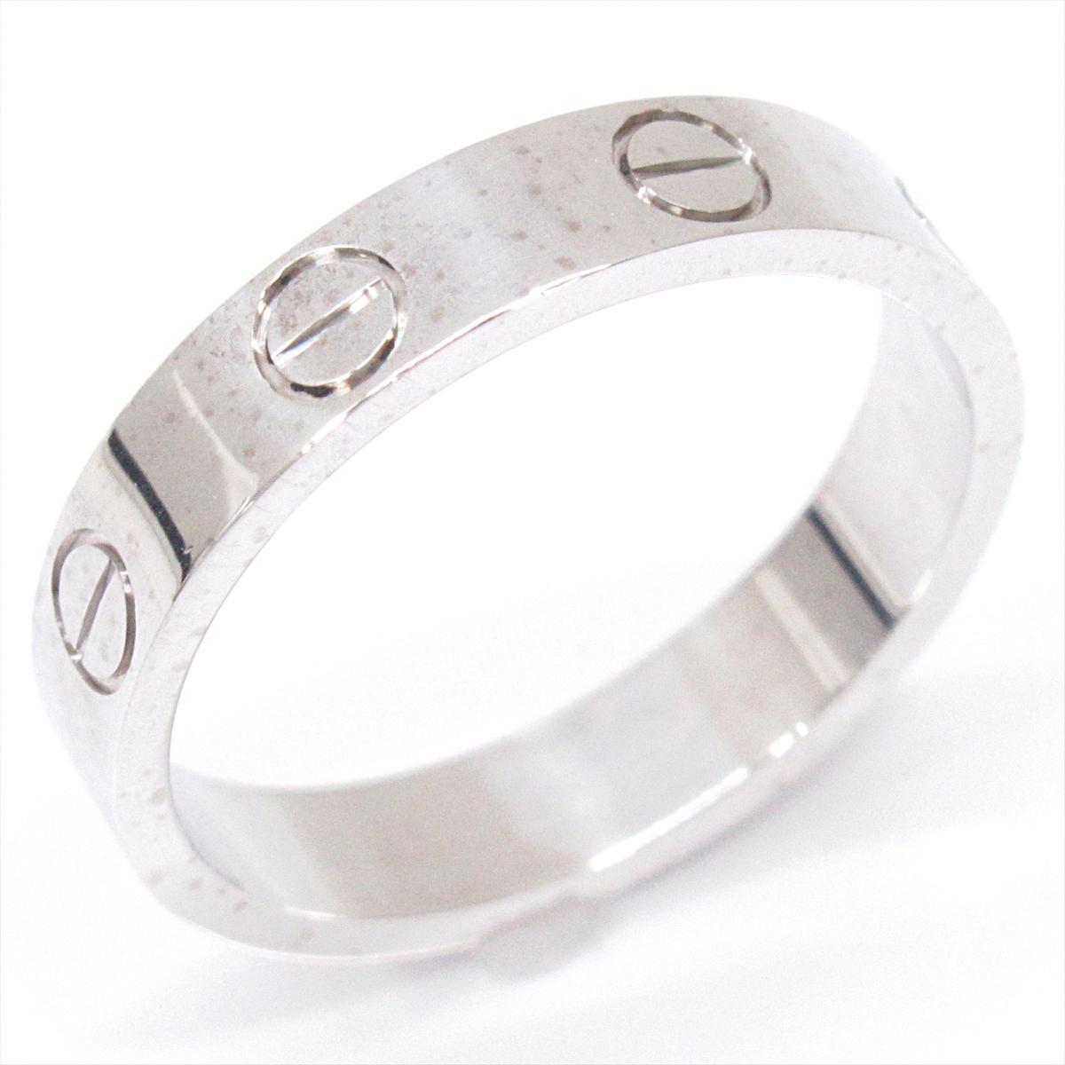 カルティエ ミニラブリング 指輪 ブランドジュエリー メンズ レディース K18WG (750) ホワイトゴールド 【中古】 | Cartier BRANDOFF ブランドオフ ブランド ジュエリー アクセサリー リング