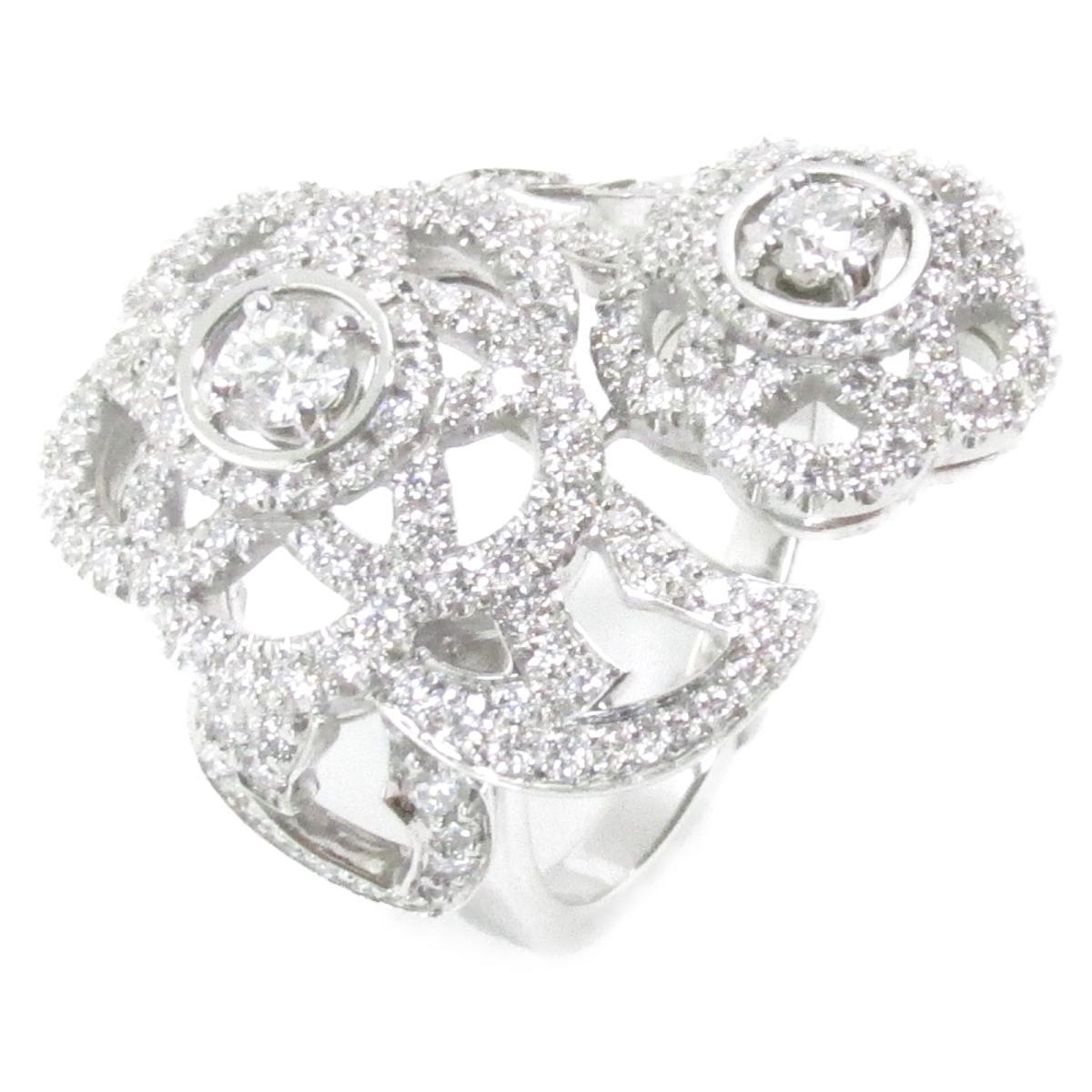 シャネル カメリア ダイヤモンドリング 指輪 ブランドジュエリー レディース K18WG (750) ホワイトゴールド x ダイヤモンド 【中古】 | CHANEL BRANDOFF ブランドオフ ブランド ジュエリー アクセサリー リング