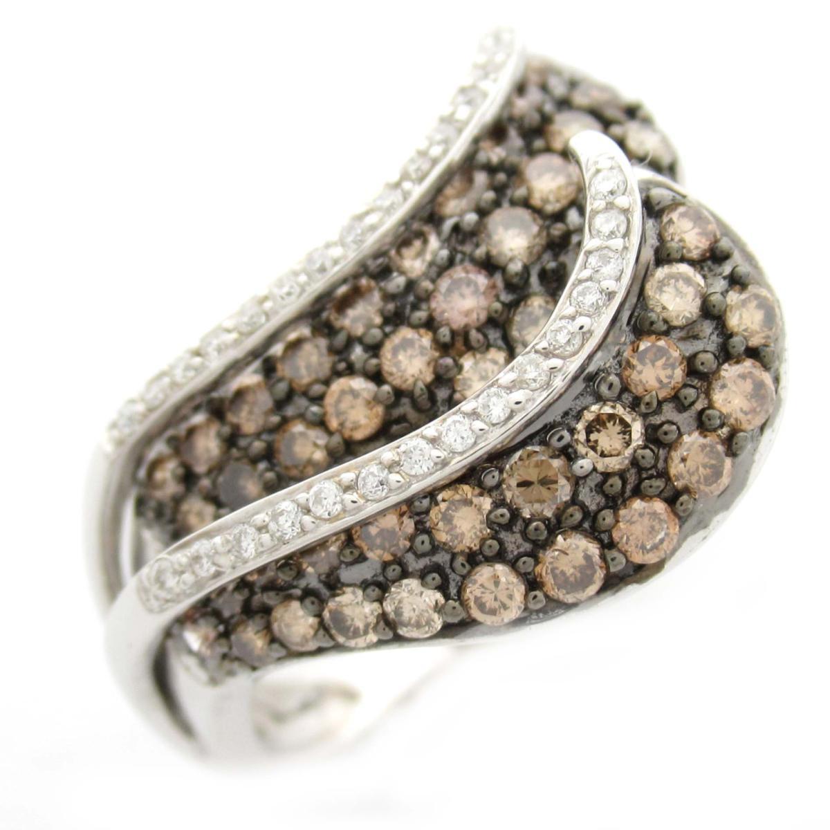 ジュエリー ダイヤモンド リング 指輪 ノーブランドジュエリー レディース K18WG (750) ホワイトゴールド x ダイヤモンド1.00CT ブラックダイヤモンド 【中古】   JEWELRY BRANDOFF ブランドオフ アクセサリー