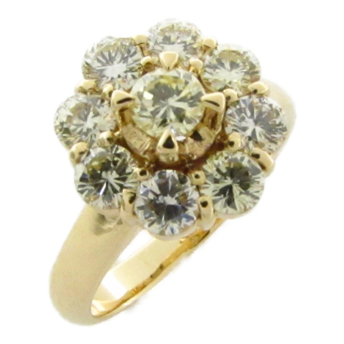 ジュエリー ダイヤモンド リング 指輪 ノーブランドジュエリー レディース K18 (イエローゴールド) x ダイヤモンド1.00ct 【中古】 | JEWELRY BRANDOFF ブランドオフ アクセサリー