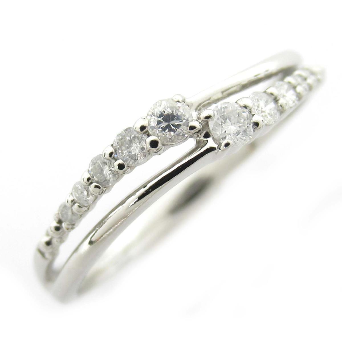 ジュエリー ダイヤモンド リング 指輪 ノーブランドジュエリー レディース PT900 プラチナ x ダイヤモンド0.17CT 【中古】 | JEWELRY BRANDOFF ブランドオフ アクセサリー