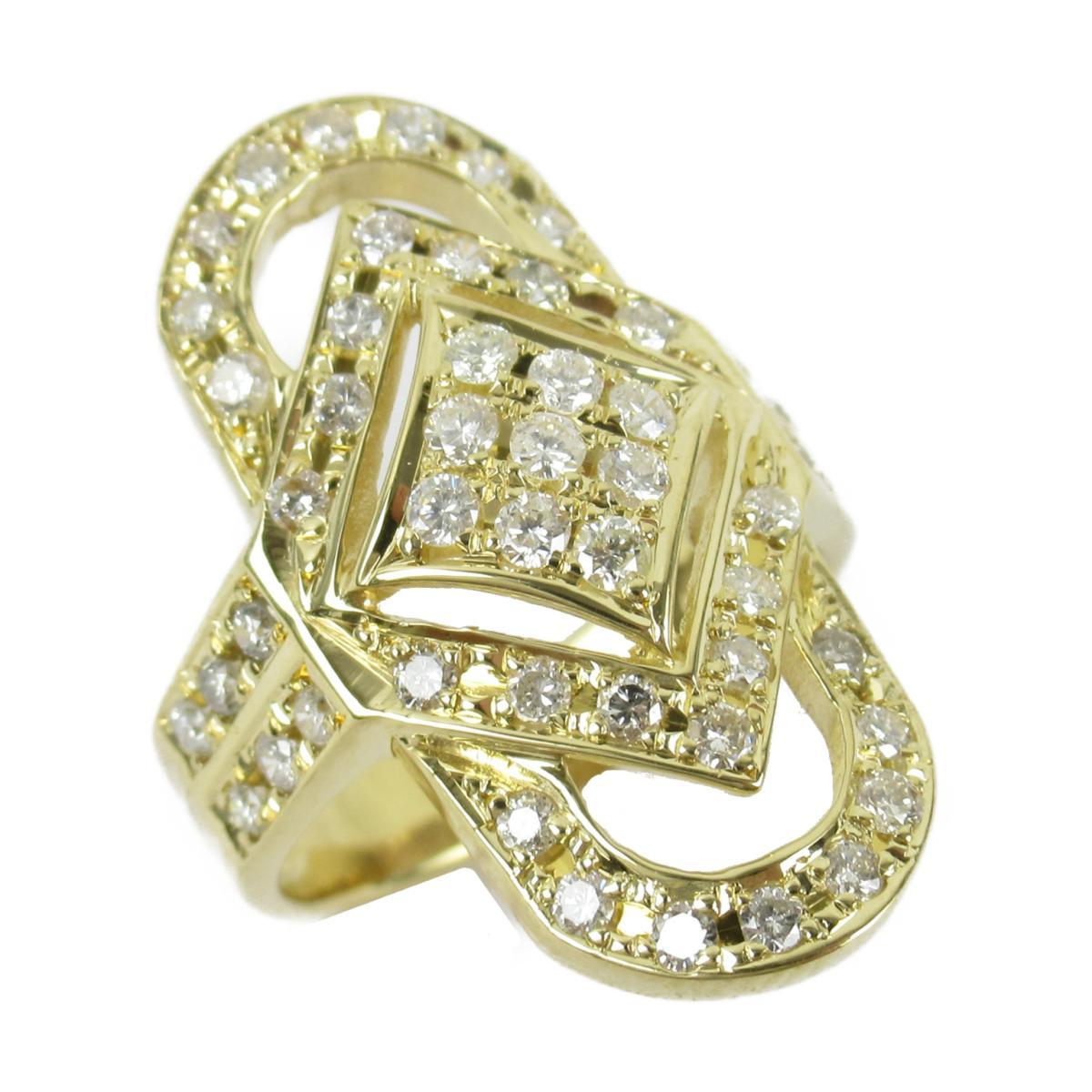 ジュエリー ダイヤモンド リング 指輪 ノーブランドジュエリー メンズ レディース K18 (イエローゴールド) xダイヤモンド1.08ct 【中古】 | JEWELRY BRANDOFF ブランドオフ アクセサリー