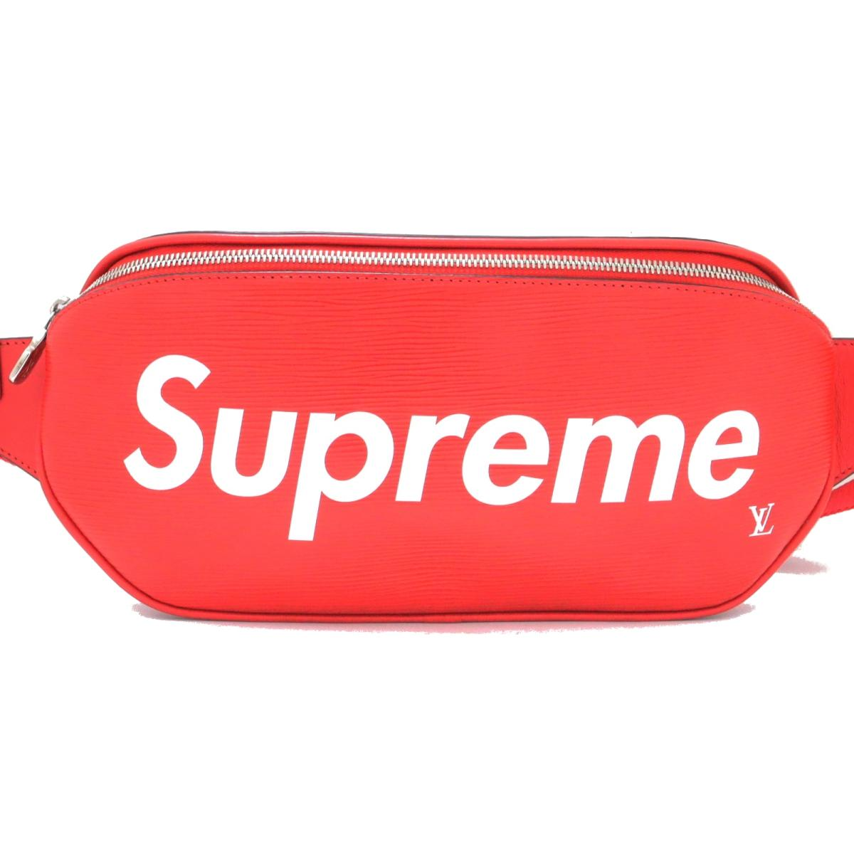 ルイヴィトン バムバッグ Supremeコラボ 2017AW限定 ウエストバッグ バッグ メンズ レディース エピ レッド (M53418) 【中古】 | ブランド