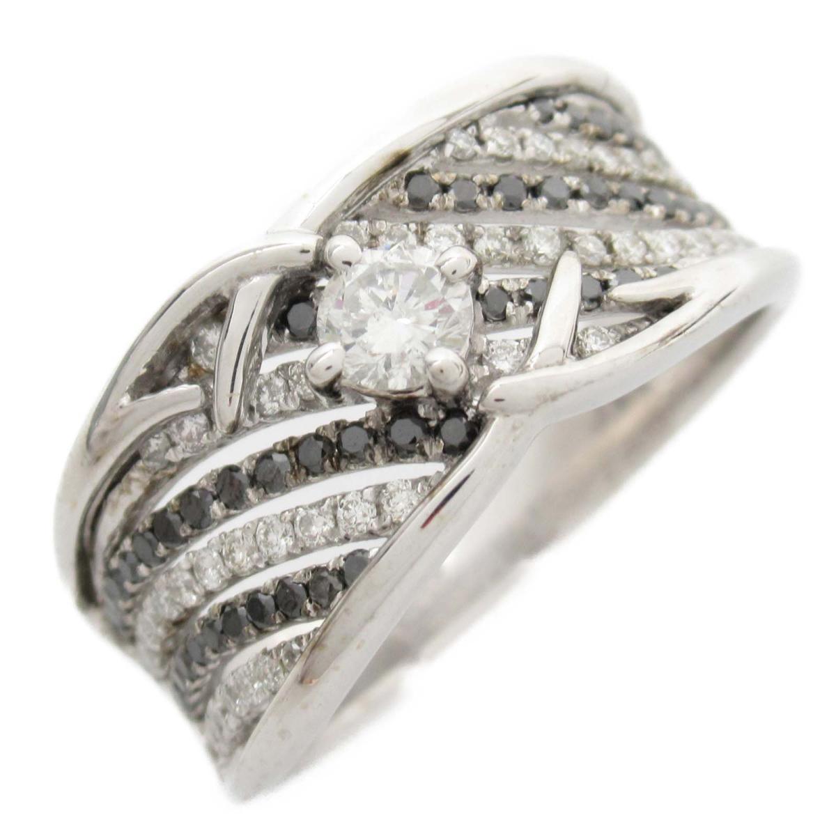 ジュエリー ダイヤモンド リング 指輪 ノーブランドジュエリー レディース 18Kホワイトゴールド x (0.20 / 0.45CT) 【中古】   JEWELRY BRANDOFF ブランドオフ アクセサリー