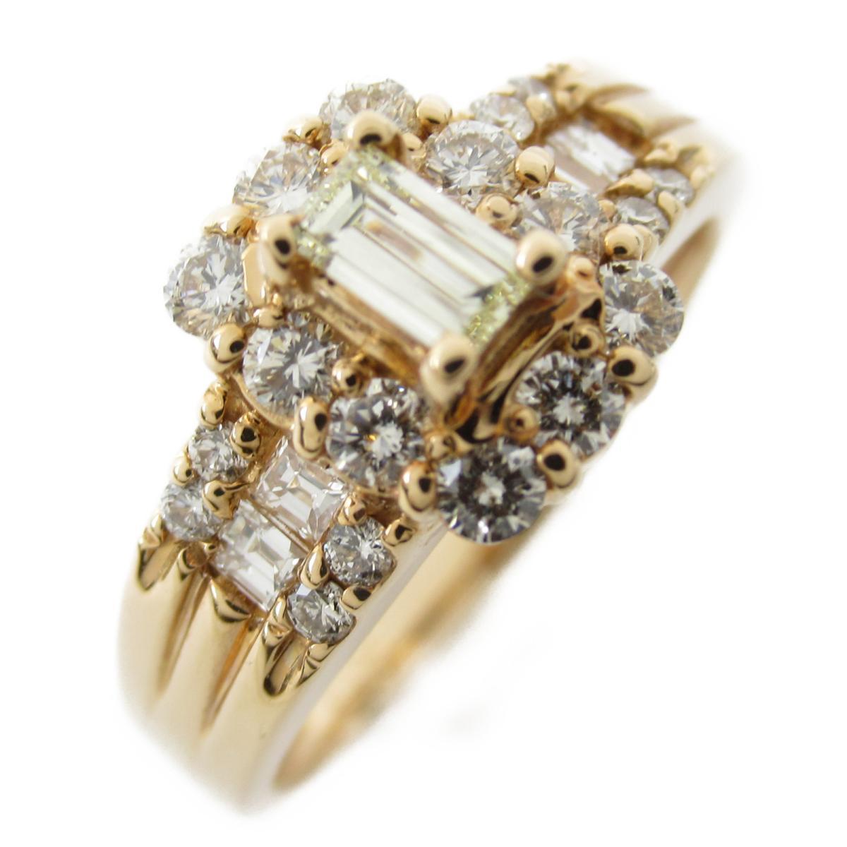 ジュエリー ダイヤモンド リング 指輪 ノーブランドジュエリー レディース K18PG (750) ピンクゴールド x ダイヤモンド0.163 | JEWELRY BRANDOFF ブランドオフ アクセサリー