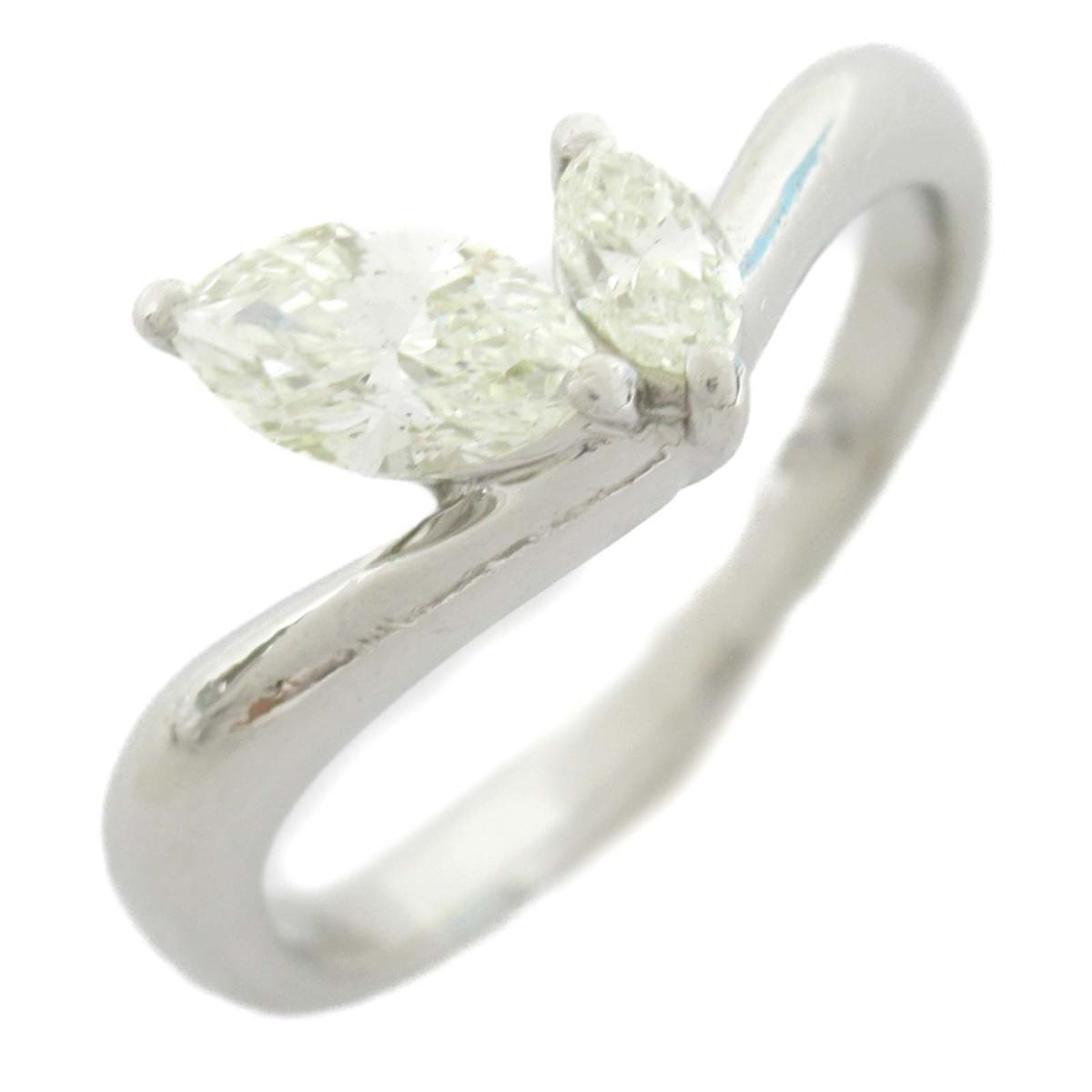 ジュエリー ダイヤモンド リング 指輪 ノーブランドジュエリー レディース PT900 プラチナ x ダイヤモンド0.56CT 【中古】 | JEWELRY BRANDOFF ブランドオフ アクセサリー