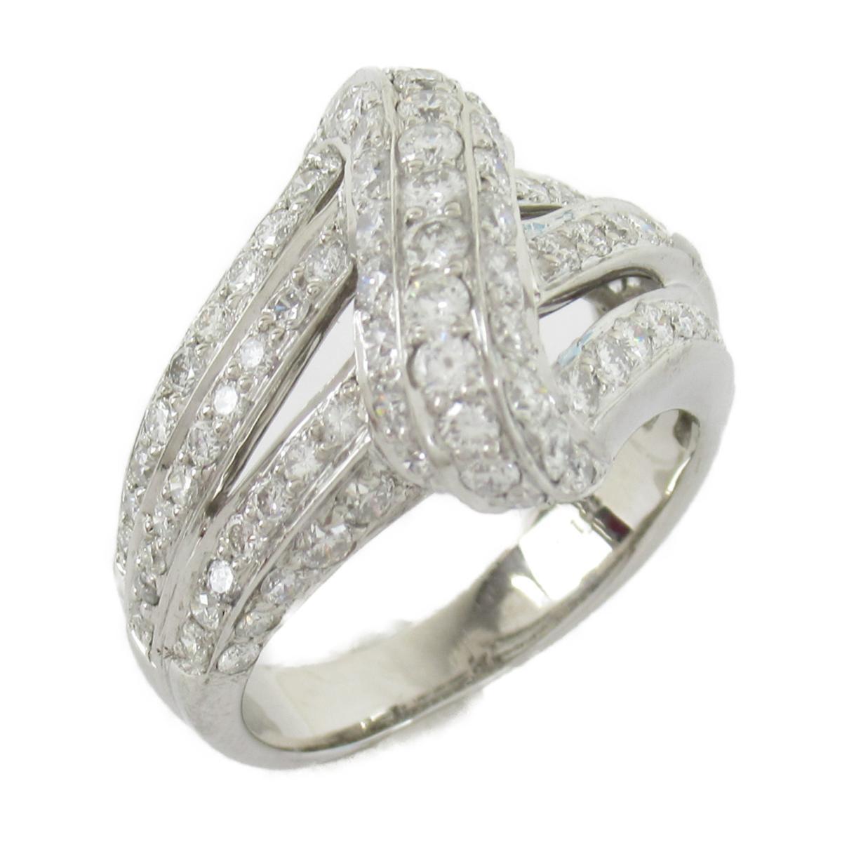 【中古】ジュエリー ダイヤモンド リング 指輪 ノーブランドジュエリー ユニセックス PT900 プラチナxダイヤモンド(1.66ct)
