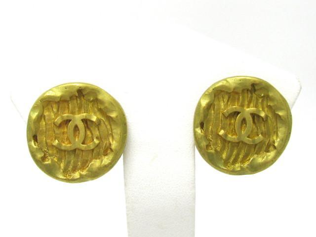 CHANEL 샤넬 94 P코코 마크 빈티지 귀걸이 귀걸이 매트 골드 도금(GP) [BRANDOFF 브랜드 오프]