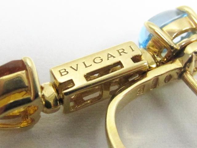 BVLGARI(불가리)/아레그라피아스/피어스//K18YG(750) 옐로우 골드×다이아몬드×핀크트르마린×아메지스트×시트린크오트×불트 파스/[BRANDOFF/브랜드 오프] pch01