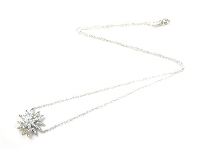 TIFFANY&CO(티파니)/삼바-파업 목걸이/목걸이//PT950(백금)×다이아몬드/[BRANDOFF/브랜드 오프]