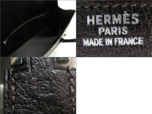 헤르메스 HERMES 드러그 37 숄더백 숄더백 보르도(실버 쇠장식) 포크