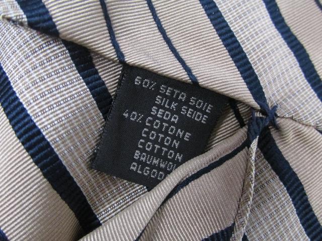 Zegna(제니아)/Ermenegildo Zegna(에르메네지르드제니아) 넥타이/넥타이/베이지×네이비/실크100%/[BRANDOFF/브랜드 오프] pch01