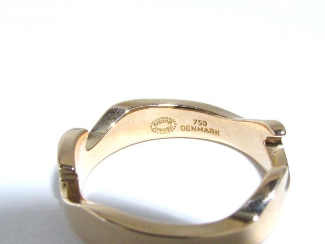 GEORG JENSEN(조지・젠센)/퓨전 링/링//K18WG(750) 화이트 골드×K18PG(750) 핑크 골드//10호[BRANDOFF/브랜드 오프] pch01